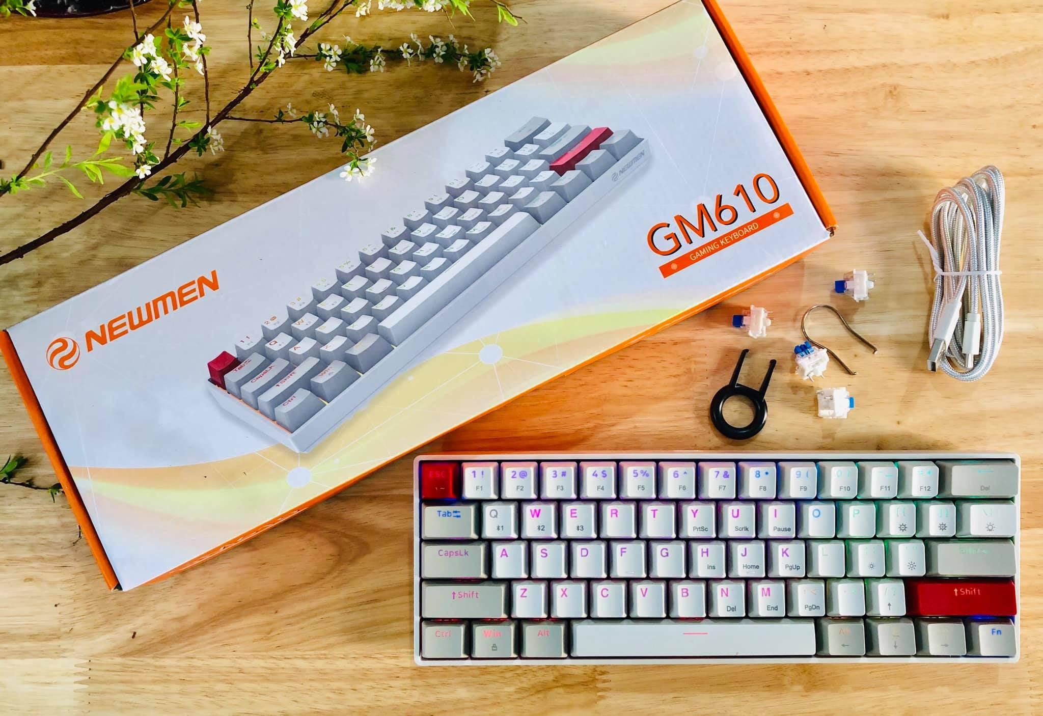 Đánh giá bàn phím không dây Bluetooth GM610 hai chế độ độc đáo